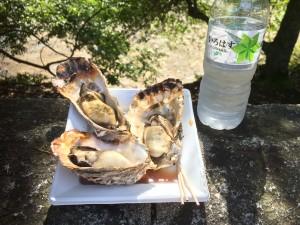 広島 厳島神社で牡蠣を楽しむ